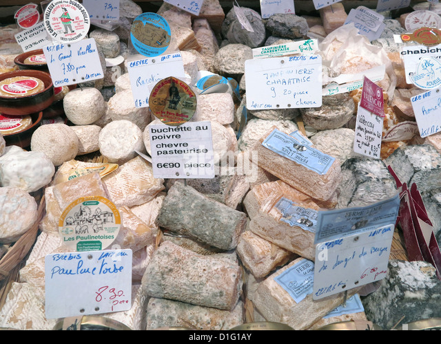 French cheese, Paris, France, Europe - Stock Image