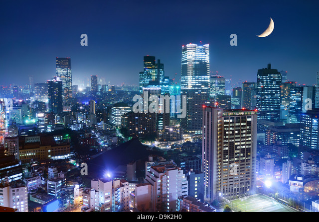 Tokyo cityscape at the Roppongi District. - Stock Image