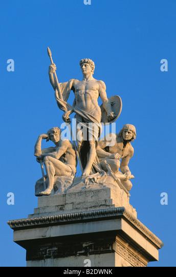 Vittorio Emanuele II monument in Rome Italy - Stock Image
