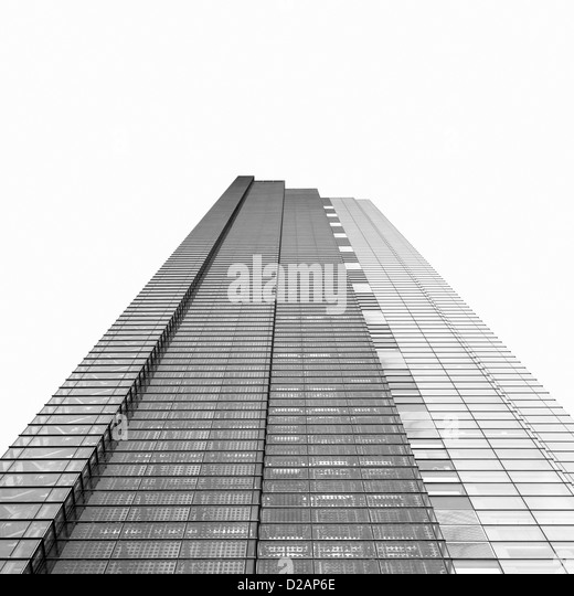 Low angle view of skyscraper - Stock Image