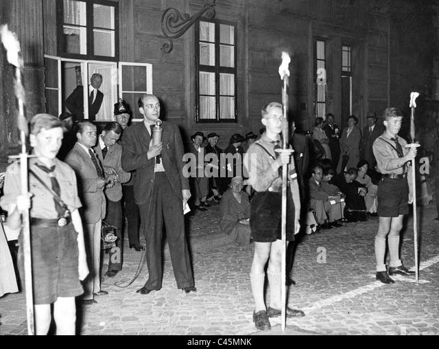 Radio broadcast of a concert - Stock Image