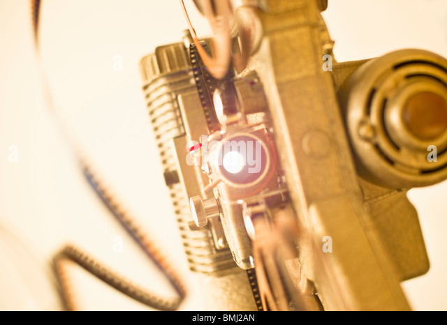 Antique movie projector - Stock Image