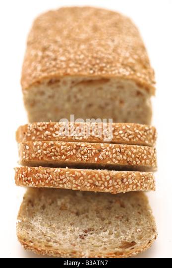 Sliced multigrain bread - Stock Image