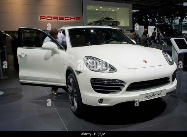 Paris, France, Paris Car Show, Porsche Hybrid Engine, Front - Stock Image