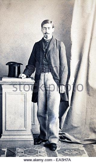 portrait man standing late 1800s - Stock-Bilder