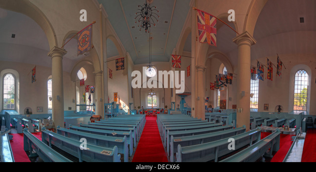 Canongate Kirk Church Edinburgh Royal Mile, Scotland, UK Interior - Stock Image