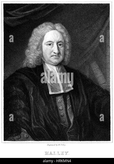 Edmond Halley, English Polymath - Stock Image