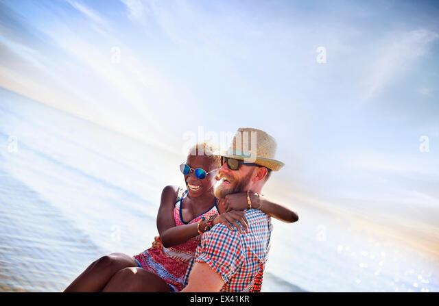 Sweet Beach Summer Holiday Couple Love Concept - Stock-Bilder