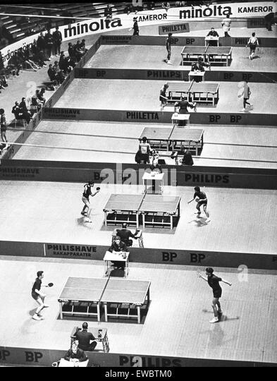 table tennis,competitions,1967 - Stock Image