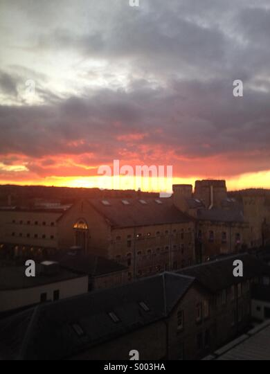 Sunset over Oxford - Stock Image