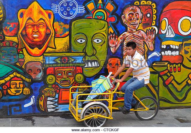 Mexico Mexico City DF D.F. Ciudad de México Federal District Distrito Federal Centro Historico Zocalo Hispanic - Stock Image