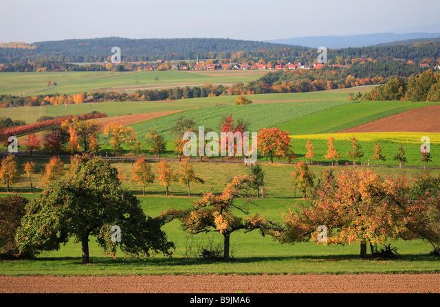 Autumnscene in Upperfrankonia Bavaria Germany - Stock-Bilder