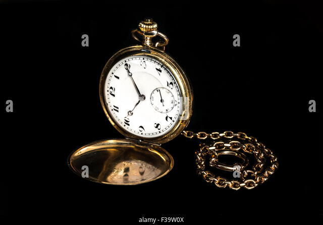 Vintage pocket watch - Stock Image