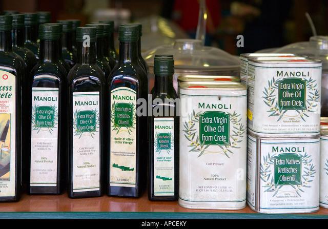 Olive oil, Crete, Greece - Stock-Bilder