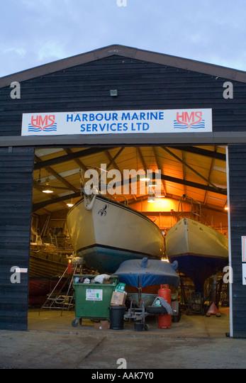 Boat Yard Southwold Suffolk England Europe - Stock Image