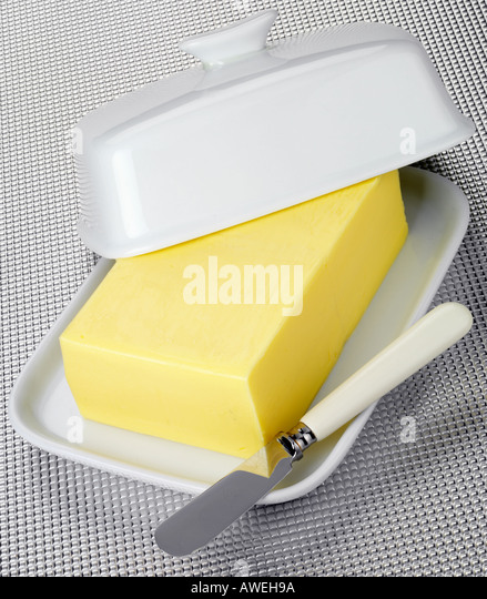 BUTTER DISH - Stock Image