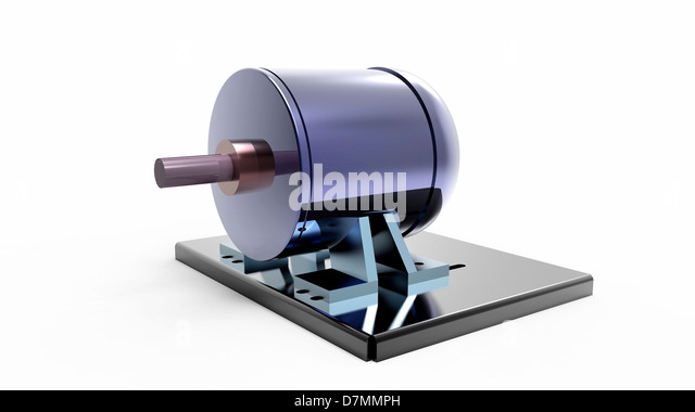 Electric motor, artwork - Stock Image