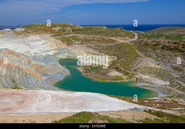 Greece, Cyclades, Island of Milos, Careers exploitation - Stock-Bilder