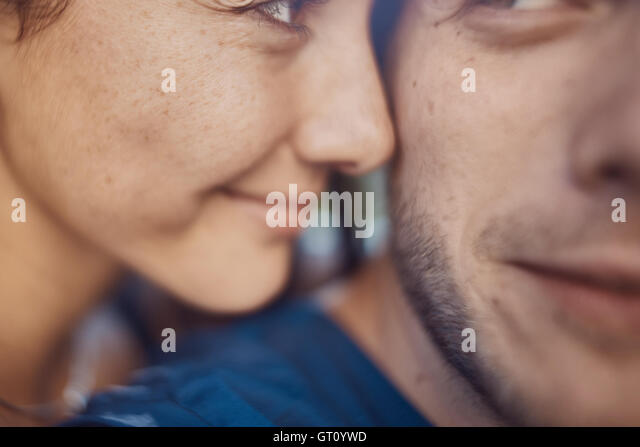 Close-up image of loving romantic couple on holiday having fun and enjoy the time - Stock Image