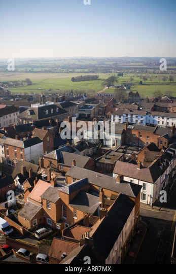 View of Warwick and its racecourse - Stock Image