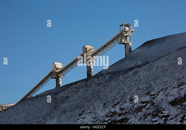 Somerset, Colorado - The coal loading facility at Arch Coal's West Elk Mine. Other mines in the area have closed. - Stock Image