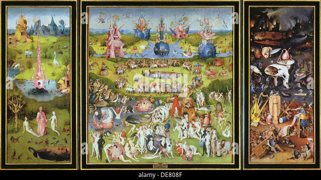 The Garden of Earthly Delights', 1500s. - Stock Image