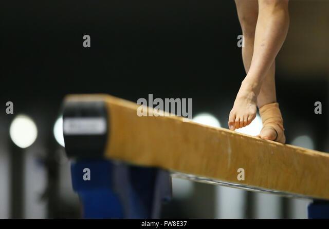 Tokyo, Japan. 1st April, 2016. Detail shot, APRIL 1, 2016 - Artistic Gymnastics : The 70th All Japan Artistic Gymnastics - Stock-Bilder