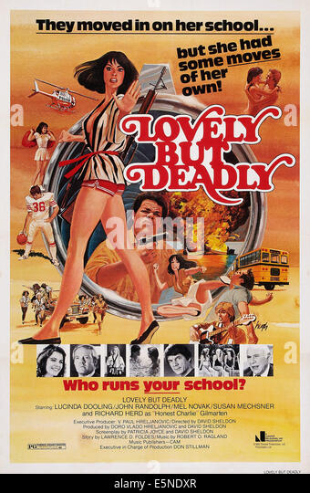 LOVELY, BUT DEADLY, U.S. poster art, Lucinda Dooling (bottom left), John Randolph ( bottom right), 1981. ©Juniper - Stock Image