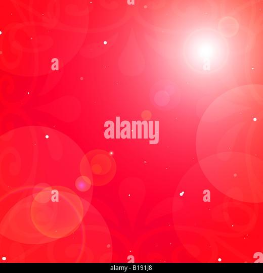 Red graphic design - Stock Image
