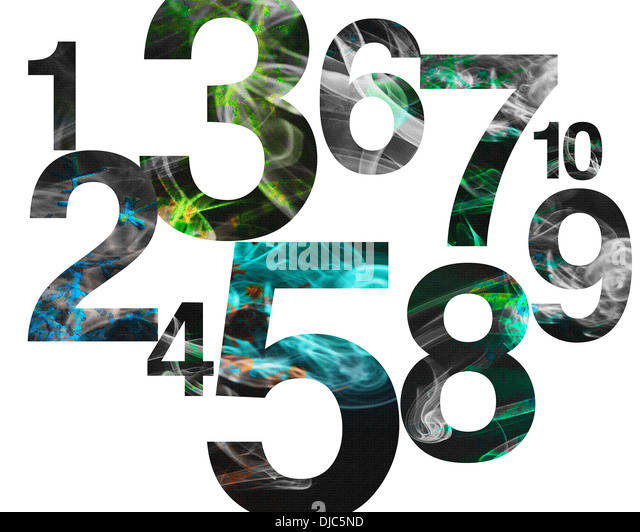 GRAPHIC DESIGN: Numb3rs - Stock Image