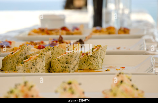 Canapes party stock photos canapes party stock images for Canape wraps
