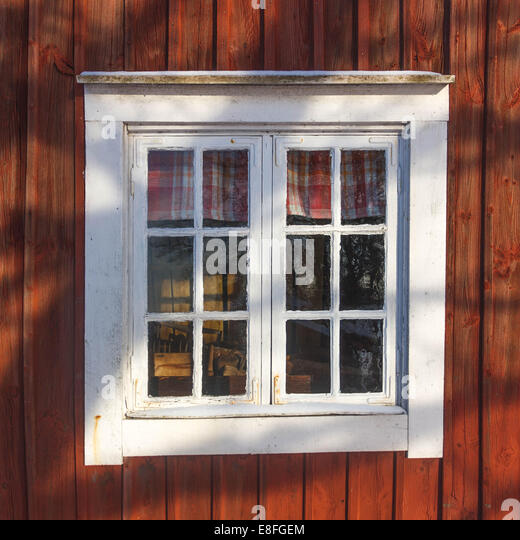 Close-up of cabin window - Stock-Bilder