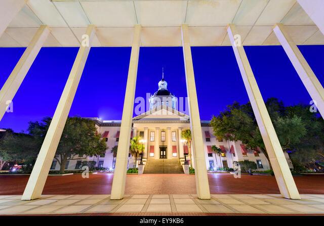 Tallahassee, Florida, USA at the historic Florida State Capitol Building. - Stock Image