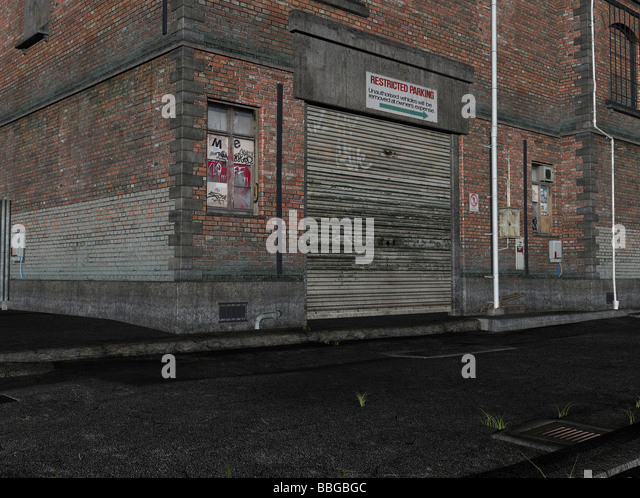 3D Illustration of an alley - Stock Image