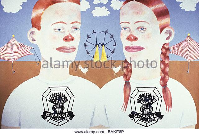 Red Headed Children - Stock-Bilder