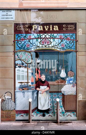 Trompe loeil window stock photos trompe loeil window - Placa barcelona sant cugat ...