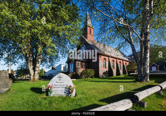 St. Peters Episcopal Church, Sitka, Southeast Alaska, USA, Summer - Stock Image