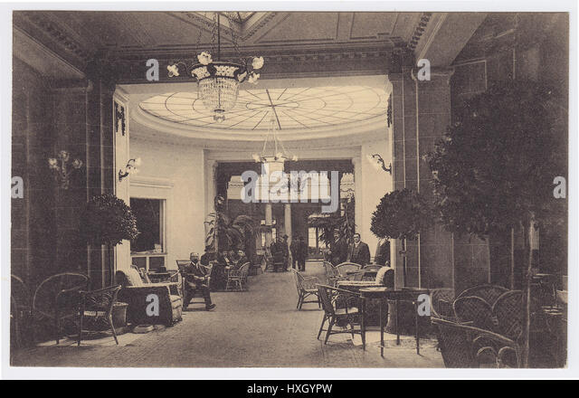 Palace Hotel, Madrid, Spain, Hallway / Lounge - Stock Image