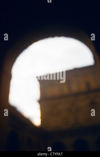 Florence, Italy soft focus archway - Stock Image