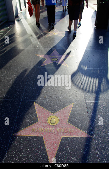 Hollywood Walk of Fame Los Angeles California USA - Stock Image