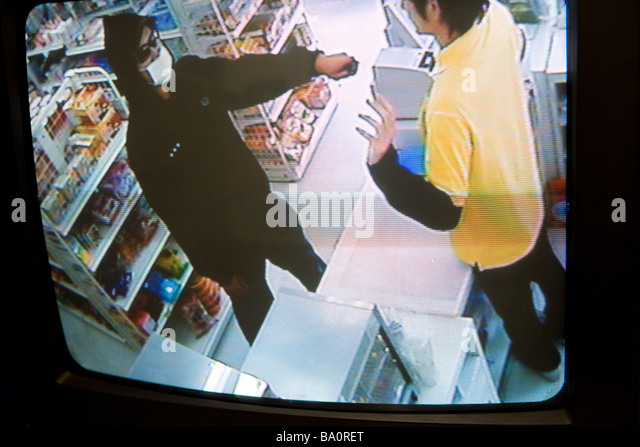 Image of security camera at convenience store - Stock-Bilder
