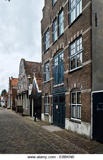 "Kaaspakhuis genaamd ""De Toekomst"" (cheese warehouse called ""The Future"") ca. 1890 neo-Renaissance building, Edam, - Stock Image"