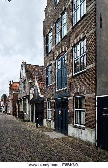 "Kaaspakhuis genaamd ""De Toekomst"" (cheese warehouse called ""The Future"") ca. 1890 neo-Renaissance building, Edam, - Stock Image"