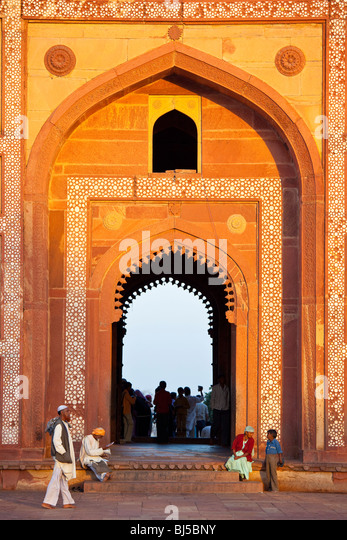 Inside the Friday Mosque in Fatehpur Sikri India - Stock-Bilder