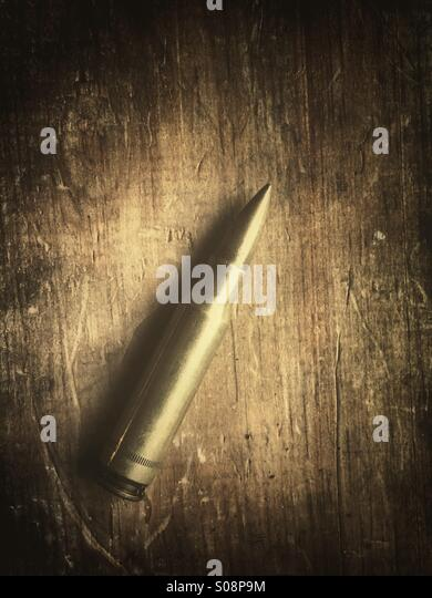 One single bullet - Stock Image