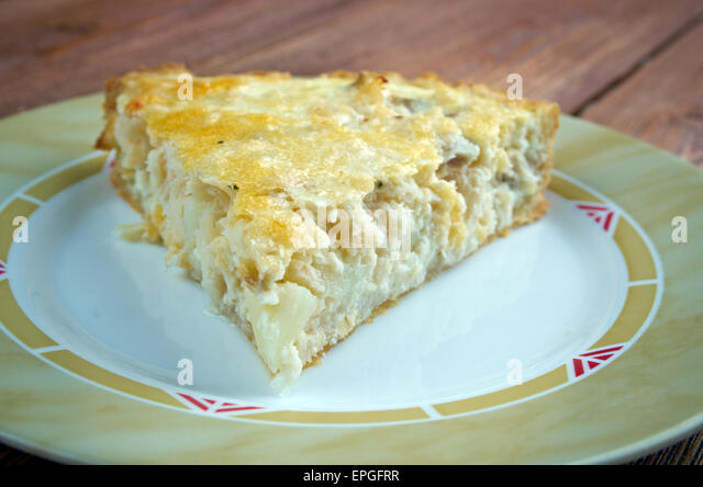 quiche with cod - Stock Image