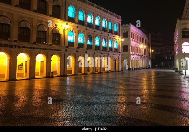 Senado Square, Macau, China - Stock Image