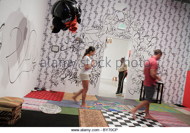 North Miami Florida MOCA Museum of Contemporary Art - Stock Image