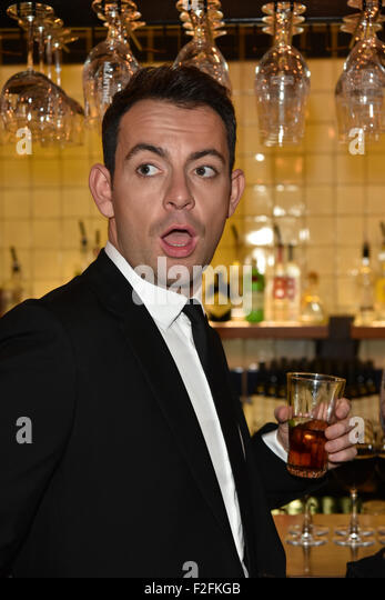 London,UK, 17th Sept 2015 : Ben Forster attends the Rocky Horror Show Gala Night After Party at the Playhouse Theatre - Stock Image