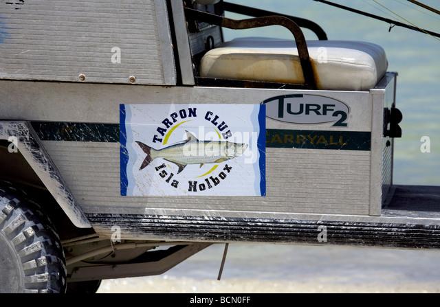 Tarpon Club vehicle Holbox Island Quintana Roo Yucatán Peninsula Mexico a unique Mexican destination - Stock Image